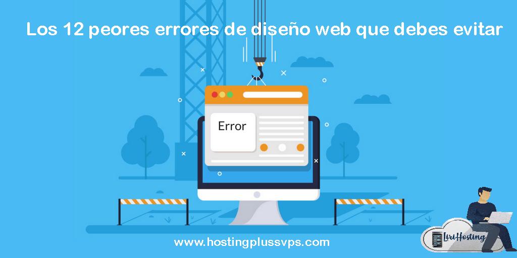 Errores de diseño web que espantan a tus clientes.