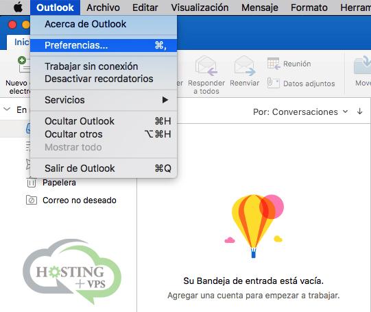 Cómo configurar una cuenta de correo en Outlook de Mac